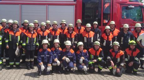 Knapp 50 Feuerwehrleute trainierten im Rahmen einer Gemeinschaftsübung im Biberbacher Gemeindegebiet verschiedene Einsatzszenarien.