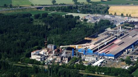 Die Meitinger Lech-Stahlwerke wollen einen Teil des Waldes roden, der zwischen dem Werk und der Nachbargemeinde Langweid steht.