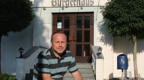 Will Bürgermeister der Gemeinde Allmannshofen werden: Markus Stettberger.