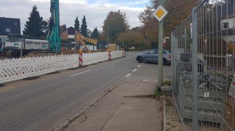 Die Stadträte sehen Handlungsbedarf im Kreuzungsbereich Kolpingstraße/Talstraße in Steppach, wo sich derzeit zwei Baustellen gegenüberliegen.