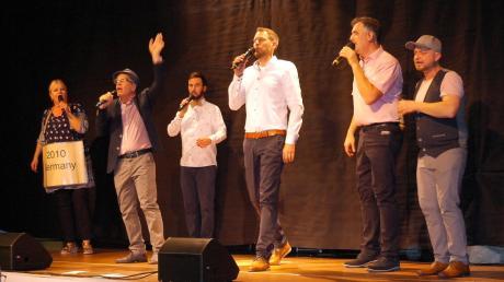 Sechs hervorragende Stimmakrobaten: Cash-n-Go bei ihrem Auftritt in Nordendorf.
