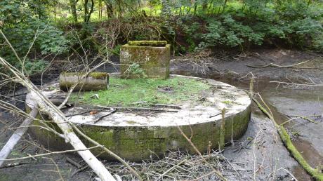 Versteckt im Scheppacher Forst: Etwa einen halben Kilometer vom Kuno-Gelände entfernt ist jetzt die ehemalige Pumpanlage an der Glött-Quelle aufgetaucht.