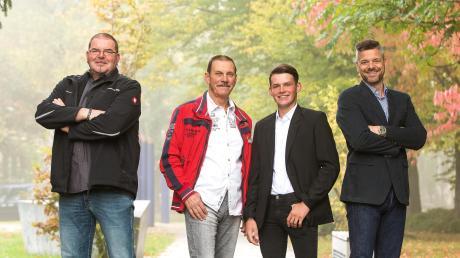 Im Familienunternehmen Modjesch ist alles aufs Bauen ausgelegt (von links nach rechts): Juri-André, Michael, Alessandro und Nikolaj Modjesch.