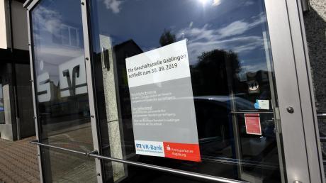 Die Bankfiliale im Gablinger Ortszentrum ist geschlossen.