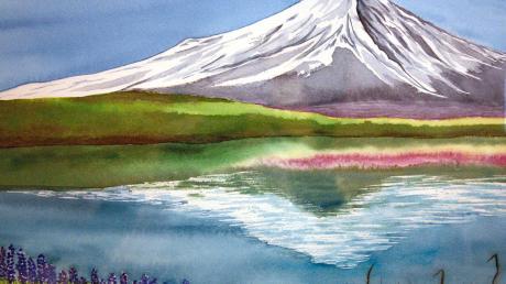 Die farbenprächtigen Aquarellbilder von Kayoko Kusumi, die derzeit im Cafe Ertl in Steppach zu sehen sind, versprühen fröhliche Verspieltheit und innere Ruhe gleichermaßen.