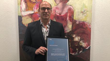 Der Gablinger Unternehmer Benedikt Kratzer wurde mit dem Digital Award Handwerk 2019 ausgezeichnet.