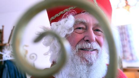 Seit Jahrzehnten verkörpert Ernst Saule den Nikolaus in Welden.