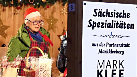 Sächsische Spezialitäten gab es am Stand der Partnerstadt Markkleeberg.