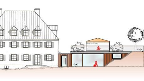 So soll der Anbau des Kindergartens in Gabelbach aussehen. Geplant ist ein Flachdach, das für Diskussion sorgte.
