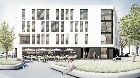 An der Stelle des Gasthofs Schuster wird als erstes im Frühjahr mit dem Bau des Geschäftshauses begonnen. Eine Bank und eine Bäckerei werden einziehen.