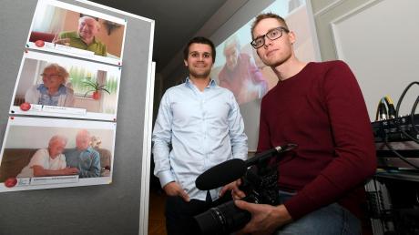Der Film über das Zeitzeugenprojekt des Dinkelscherbers Michael Kalb (links) und Timian Hopf wird jetzt in mehreren Kinos in der Region gezeigt.