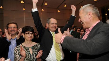 2014 war Michael Wörle bei den Kommunalwahlen in Gersthofen der strahlende Sieger. Jetzt hat er viel Konkurrenz. (Archivbild)