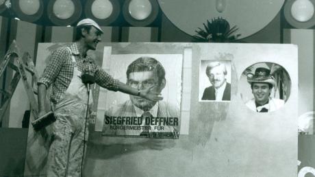 Im Wahlkampf 1984 nahm Alfred Steiner die Kanidaten Sigfried Deffner, Hermann Fendt und den Kol-La-Sitzungspräsidenten Karl-Heinz Wagner auf die Schippe.