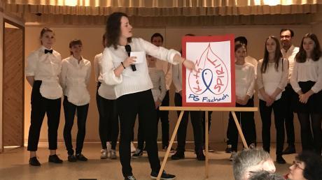 Mirjam Wundlechner stellte die im Pfarrheim die Arbeit von Kath-Spirit und das Logo vor.