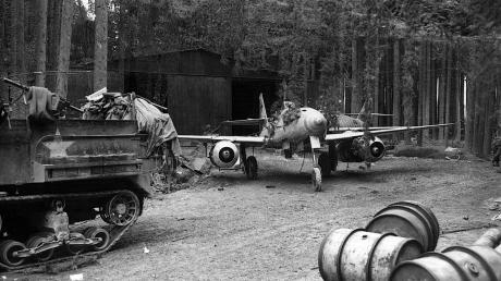 Dieser Blick ins Waldwerk Kuno wurde im April 1945 von US-Soldaten aufgenommen.