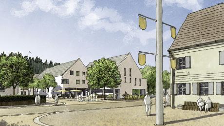 Vision: Das Bild zeigt, wie der Platz nach Vorstellung des Architekten einmal aussehen könnte.