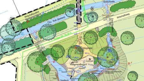 Landschaftsarchitekt Reinhard Baldauf stellte bei der jüngsten Sitzung des Gemeinderats in Horgau die aktuellen Pläne zum Rothauepark vor.