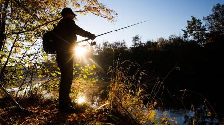 Ein illegaler Angler wurde am Sonntag in Vöhringen erwischt.