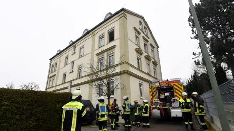 Zu einer Verpuffung kam es in dem alten Kurhaus in Westheim.