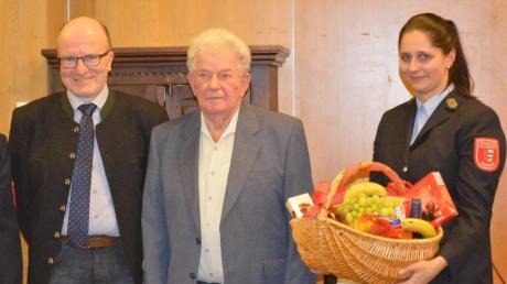 70 Jahre Mitglied der Freiwilligen Feuerwehr Anhausen ist Ludwig Spengler.