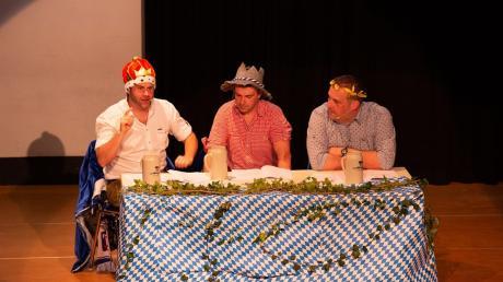 Die scheinheiligen drei Bierkönige (von links) Matthias Reiner, Thomas Hohler und Stefan Kaiser.