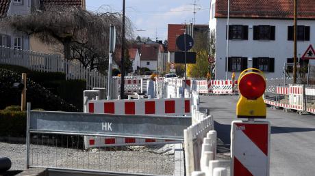Die Sanierung der Hauptstraße in Horgau zieht sich hin.