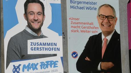 Am kommenden Sonntag müssen die Gersthofer Wähler entscheiden, ob Max Poppe (links) Bürgermeister wird oder Michael Wörle Rathauschef der Stadt bleibt.
