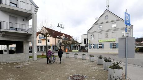 Die Gestaltung der neuen Ortsmitte von Aystetten ist eines der beherrschenden Themen im Wahlkampf.