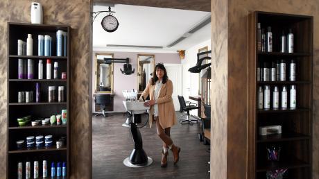 Heike Leyers Nerven liegen blank: Sie hat ihren Friseursalon in Schwabmünchen seit 20. März geschlossen.