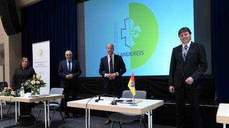 Der Landrat und seine Vertreter: (von links) Sabine Grünwald, Hubert Kraus, Martin Sailer und Michael Higl.