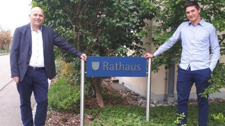 Franz Schlögel (links) bleibt Erster Bürgermeister der Gemeinde Ehingen, Maximilian Becke (rechts) wird Zweiter Rathauschef.