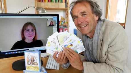 Per Skype tauschten sich Veronika-Marie Eckl in Neuseeland und Stephan Eckl in Diedorf aus.