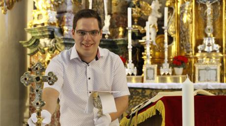 Michael Durner ist der neue Mesner der Klosterkirche Holzen.