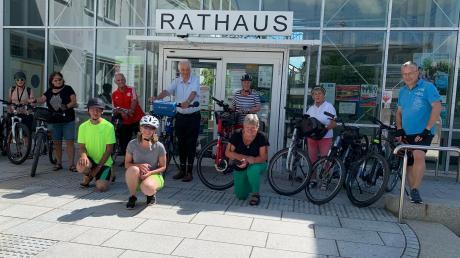 Am letzten Tag des Stadtradelns wurde in Stadtbergen eine Abschlusstour organisiert – von Stadtbergen über Königsbrunn nach Siebenbrunn.