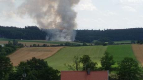Brand zwischen Fischach und Siegertshofen.