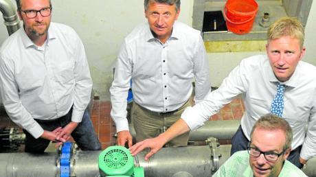 Die neue Druckerhöhungsanlage der Loderberggruppe.