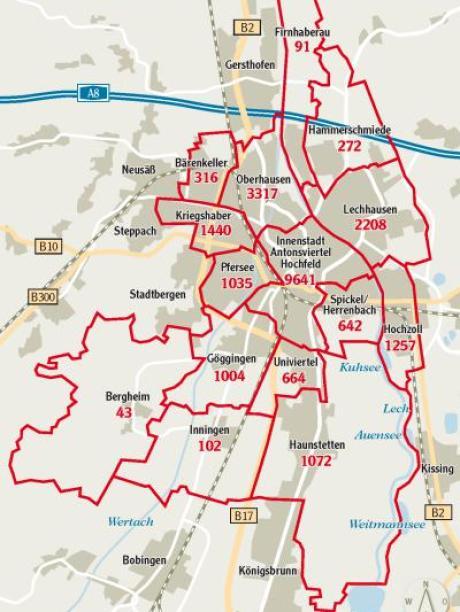 Karte Augsburg.Augsburg So Sicher Ist Ihr Stadtteil Lokales Augsburg