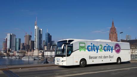 """Ab dem 2. April wird auch die Linie """"city2city"""" Augsburg anfahren."""