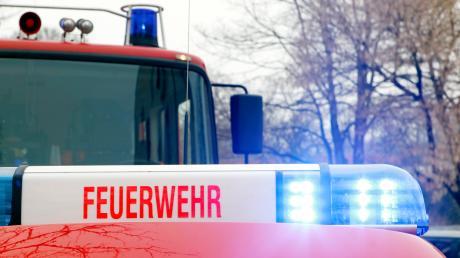 Die Berufsfeuerwehr löschte in Hochzoll ein Quad, das in Flammen aufgegangen war.