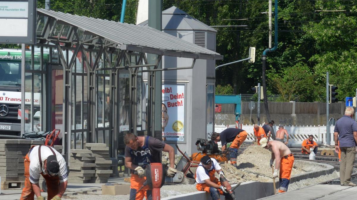 augsburg stadt ab montag f hrt die tram wieder nach. Black Bedroom Furniture Sets. Home Design Ideas