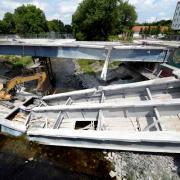 Ackermann-Brücke eingestürzt