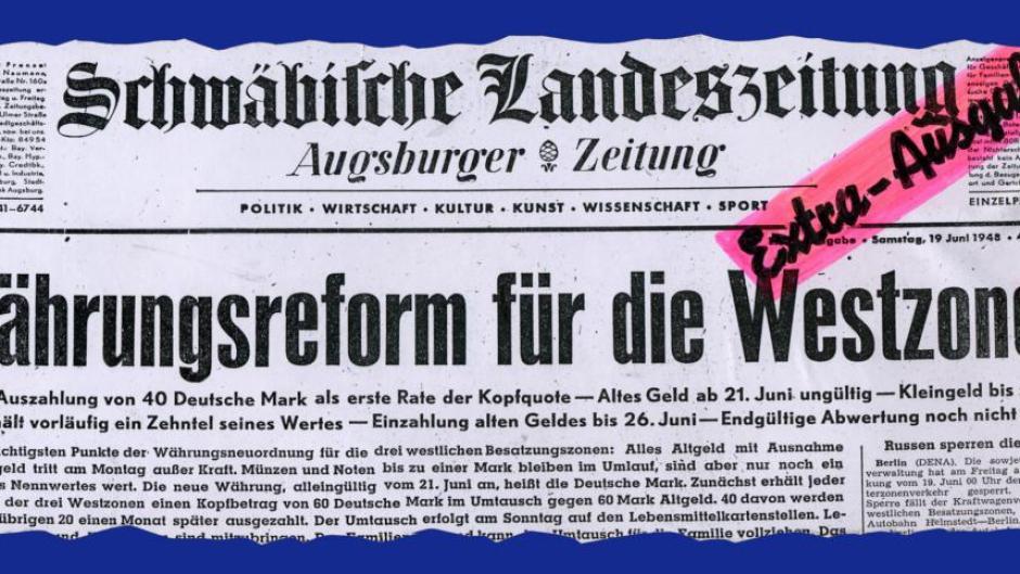 Geldgeschichte Die D Mark Ersetzte 1948 Die Reichsmark Augsburger