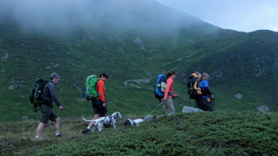 c12a17c54b8dce Über alle Berge auf zwei Beinen und vier Pfoten. Eine Alpenüberquerung mit  Hund hat ihre eigenen Regeln – in der Natur