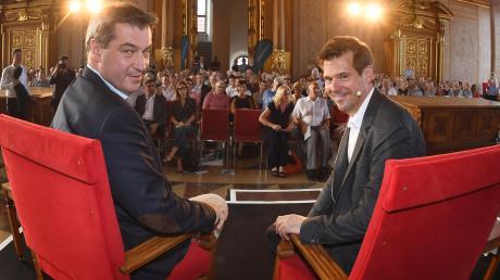 Bayerns Ministerpräsident Markus Söder wurde von AZ-Chefredakteur Gregor Peter Schmitz interviewt.