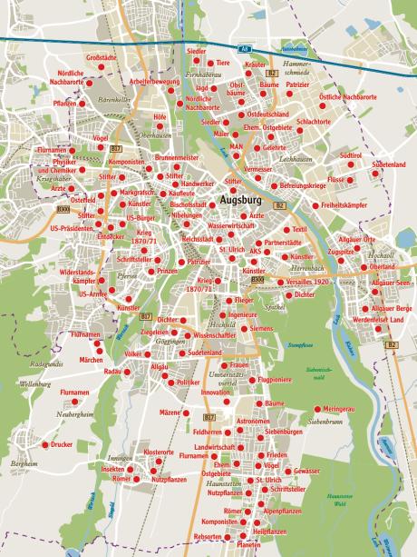 Karte Augsburg.Augsburg Wie Augsburgs Strassen Zu Ihren Namen Kamen