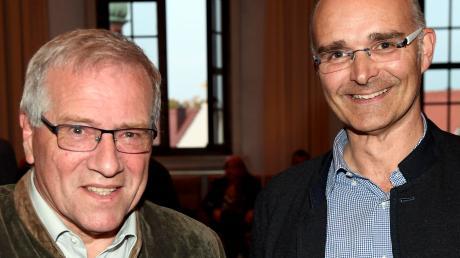 Johannes Hintersberger und Andreas Jäckel (beide CSU, hier am Abend der Bundestagswahl) waren verhindert.