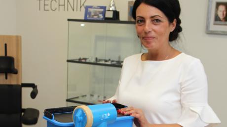 Mit dem Unternehmen Schneider Kunststofftechnik Schneider hat Chefin Drita Schneider den kleinen Wasserfilter Ujeta entwickelt.