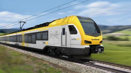 Rund um Stuttgart und auf der Strecke München - Lindau ist Go Ahead mit Elektrotriebwagen des Typs Stadler Flirt 3 (hier in der Lackierung für Baden-Württemberg) im Einsatz. Kommt dieser Typ auch rund um Augsburg?