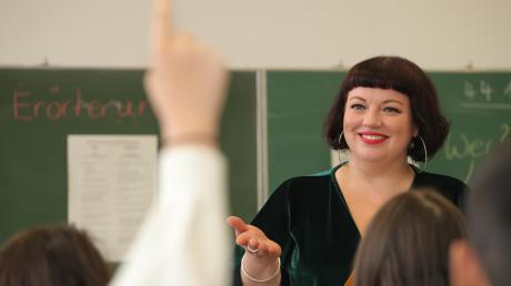 Nina Kempf in ihrer 9. Klasse in der Kapellenschule in Oberhausen.