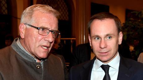 Volker Ullrich (rechts) soll Augsburgs CSU-Chef Johannes Hintersberger ablösen.